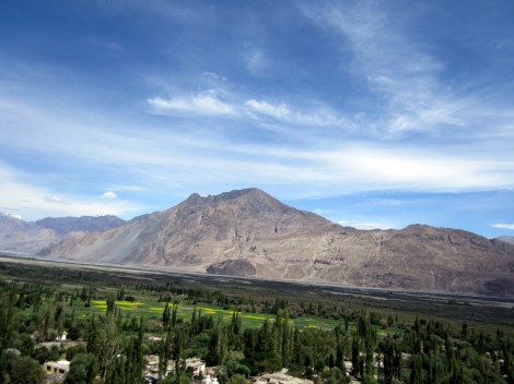 The view from Diskit Gompa