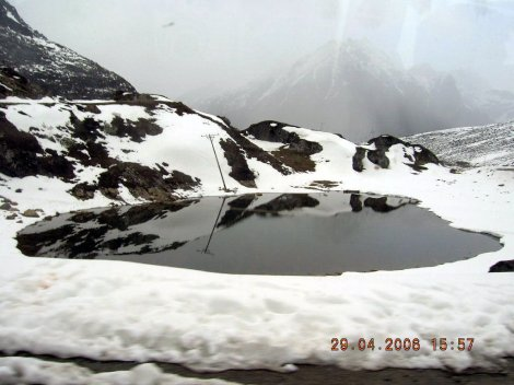 Paradise Lake, very close to Sela Pass (Alt: 13700ft) enroute to Tawang. A sight to remember from the journey.