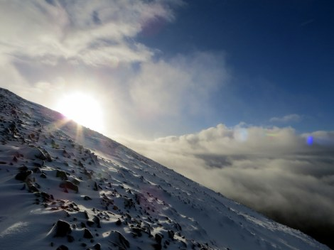 Lo and behold! Sunrise on boxing day on top of Ben Nevis!