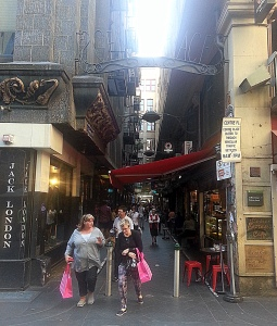 Cafe-filled Centre Place is the laneway of all laneways. Quintessentially Melbournian with all types of offerings.