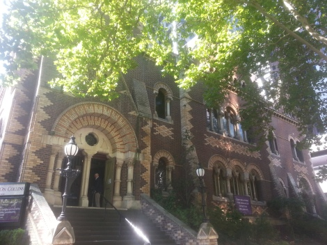 St Michael's Uniting Church, constructed in Lombardic Romanesque style.