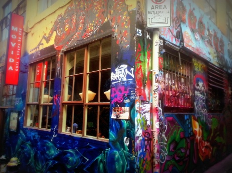 Movida, 1 Hosier Lane, which is synonymous with the street art heartland of Hosier & Rutledge Lanes